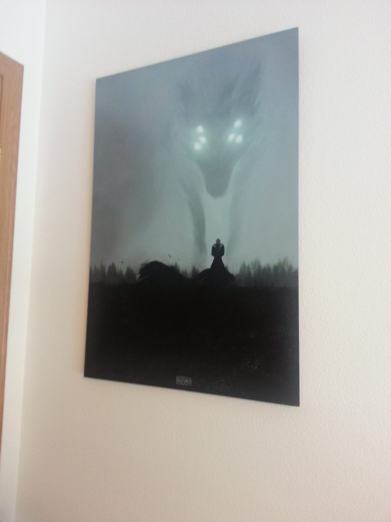 Before Dragon Age, this gigantic art print most certainly was not hanging on my wall.