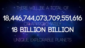Shame that's 18 quintillion planets of nothing much!